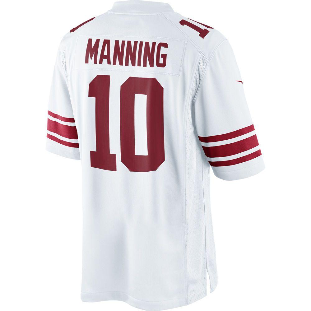 ナイキ Nike メンズ トップス【New York Giants Adult Eli Manning Limited Jersey】White