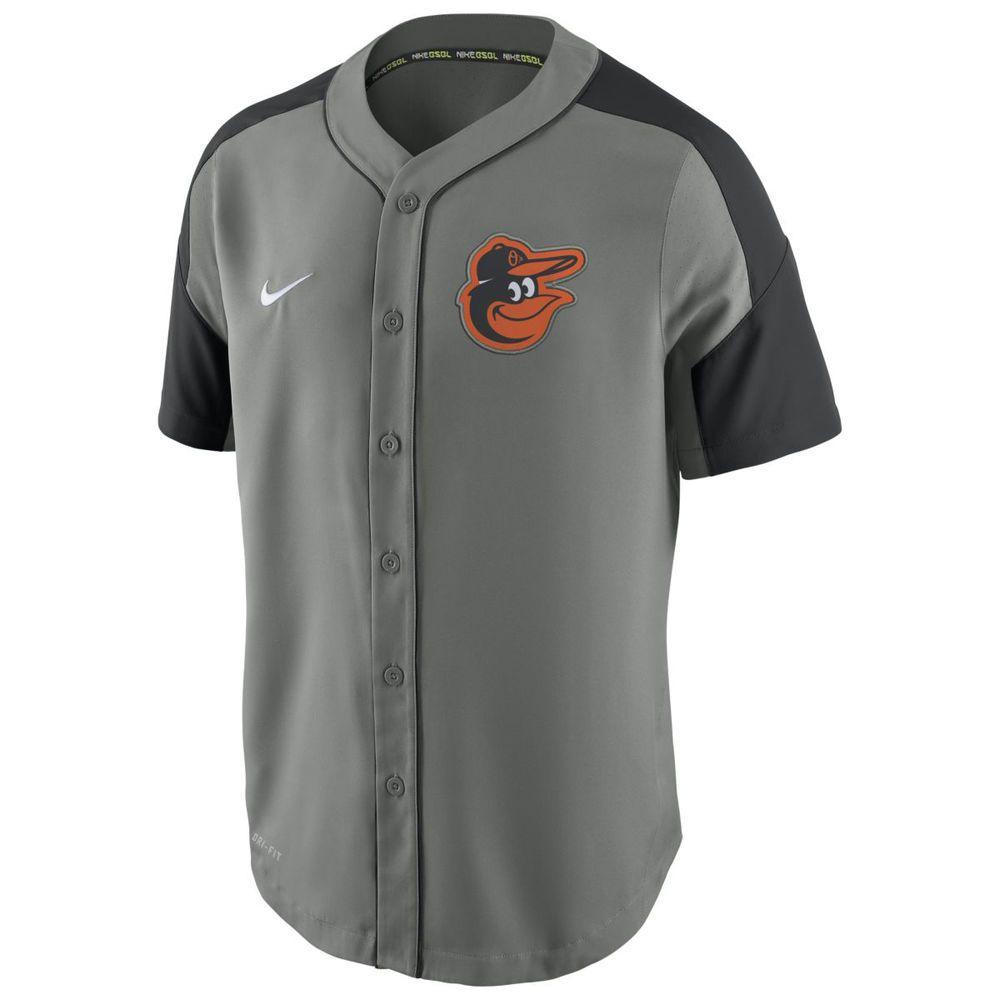 ナイキ Nike メンズ トップス【Baltimore Orioles Adult Dri-Fit Woven Jersey】Grey