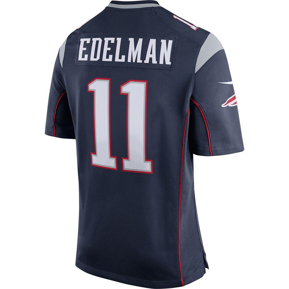 ナイキ Nike メンズ トップス【New England Patriots Adult Julian Edelman Game Jersey】Navy
