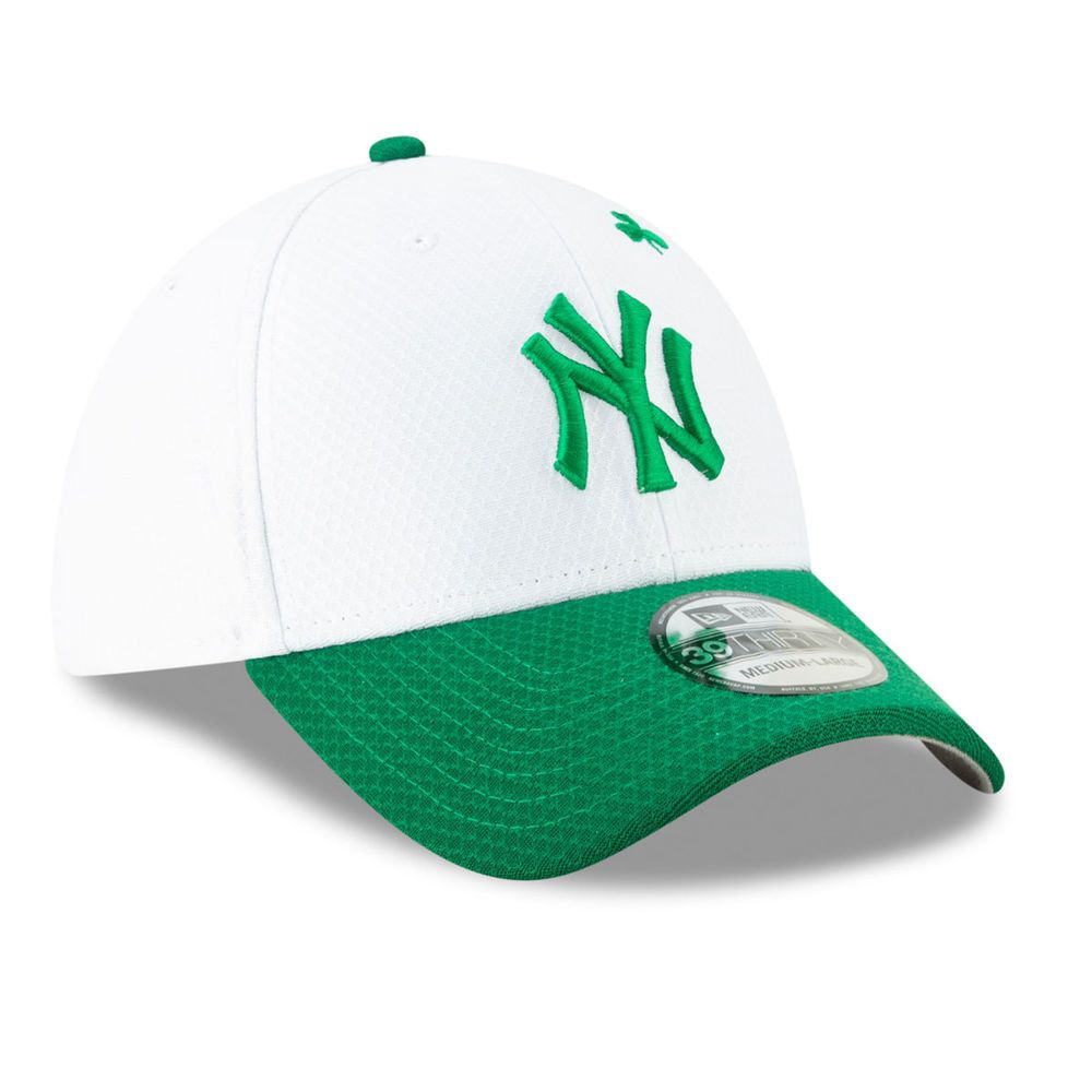 ニューエラ New Era ユニセックス 帽子 キャップ【New York Yankees St Patricks Day 39THIRTY Stretch Fit Hat】White