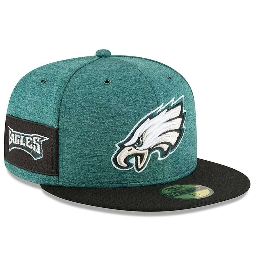 ニューエラ New Era ユニセックス 帽子 キャップ【Philadelphia Eagles Adult 59FIFTY Sideline Hat】Green