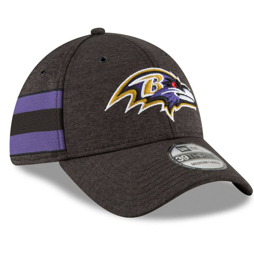 ニューエラ New Era ユニセックス 帽子 キャップ【Baltimore Ravens Adult 2018 Home 39THIRTY Sideline Hat】Black
