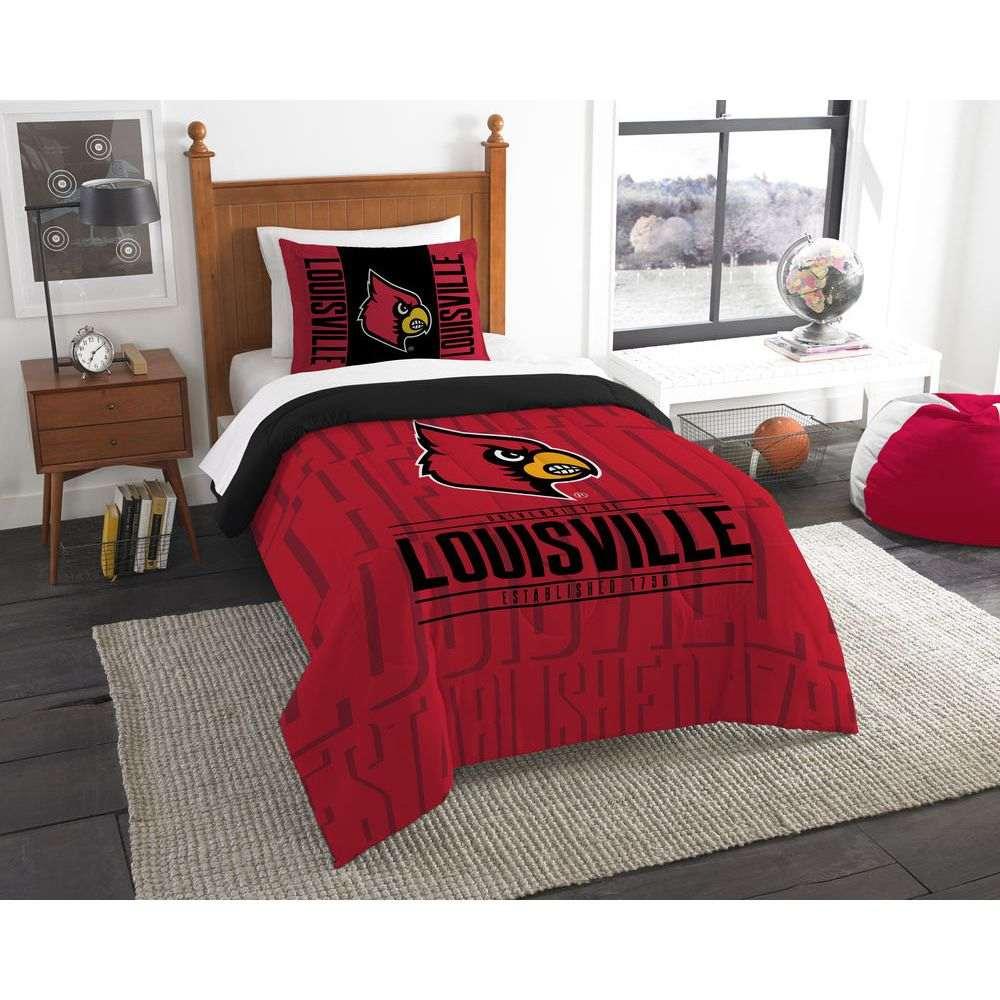 ノースウエスト Northwest ユニセックス 雑貨【Louisville Cardinals Draft Twin Comforter Set】