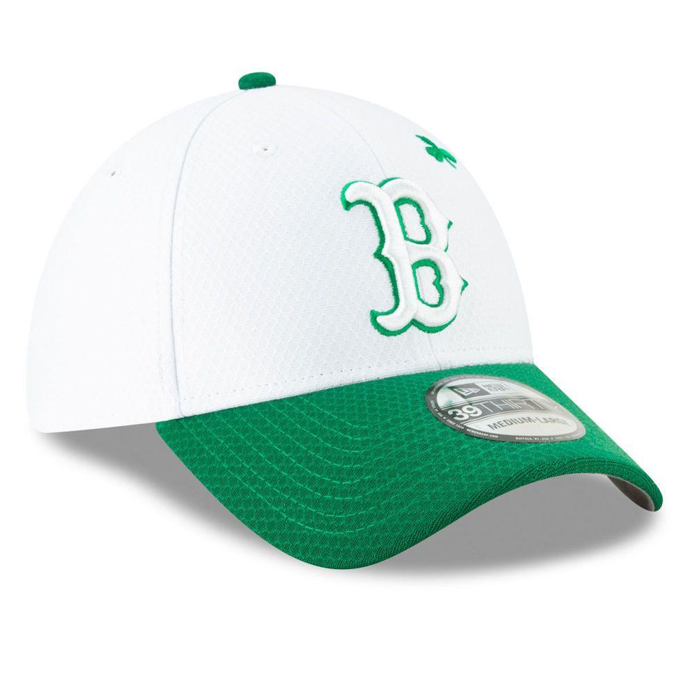 ニューエラ New Era ユニセックス 帽子 キャップ【Boston Red Sox St Patricks Day 39THIRTY Stretch Fit Hat】White