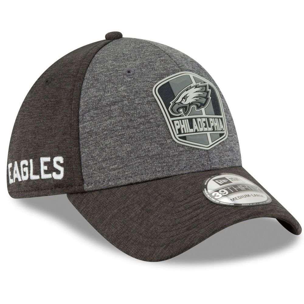 ニューエラ New Era ユニセックス 帽子 キャップ【Philadelphia Eagles Adult 2018 39THIRTY Road Sideline Hat】Black