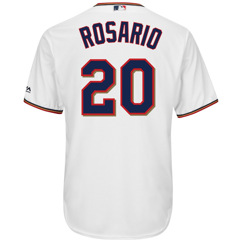 マジェスティック Majestic メンズ トップス【Minnesota Twins Adult Eddie Rosario Cool Base Jersey】White