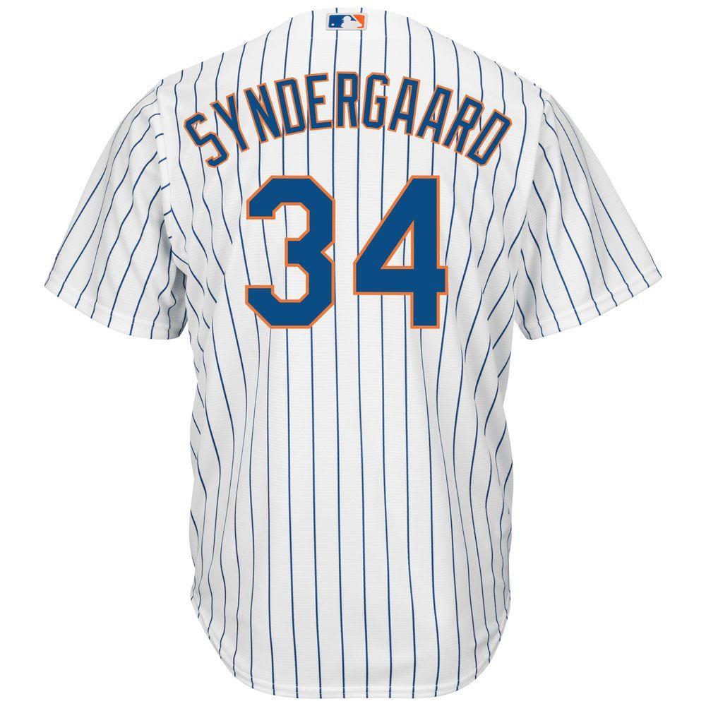 マジェスティック Majestic メンズ トップス【New York Mets Big Noah Syndergaard Cool Base Replica Jersey (Big & Tall)】White/Blue