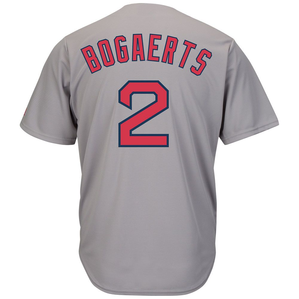マジェスティック Majestic メンズ トップス【Boston Red Sox Xander Bogaerts Adult Cool Base Replica Jersey】Grey