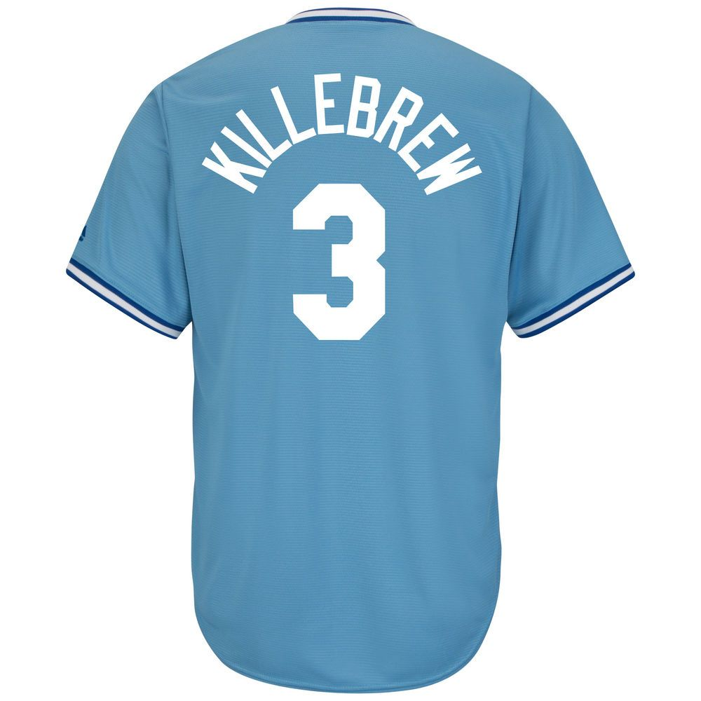 マジェスティック Majestic メンズ トップス【Minnesota Twins Big Harmon Killebrew Cool Base Replica Jersey (Big & Tall)】Light Blue