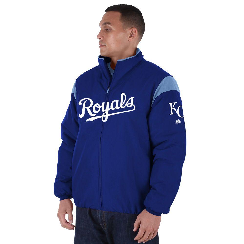 マジェスティック Majestic メンズ アウター ジャケット【Kansas City Royals Big Authentic Collection On-Field Therma Base Thermal Full-Zip Jacket (Big & Tall)】Royal