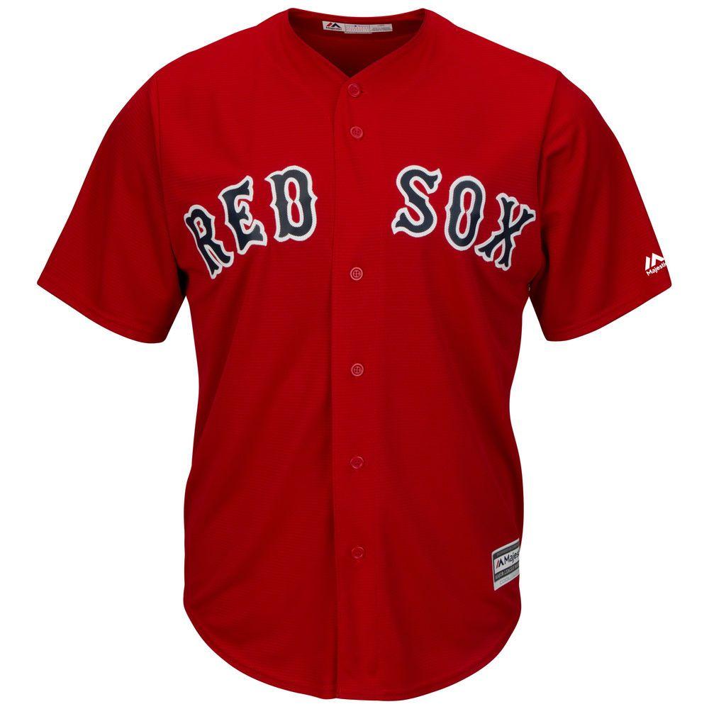 マジェスティック Majestic メンズ トップス【Boston Red Sox Big Cool Base Jersey (Big & Tall)】White