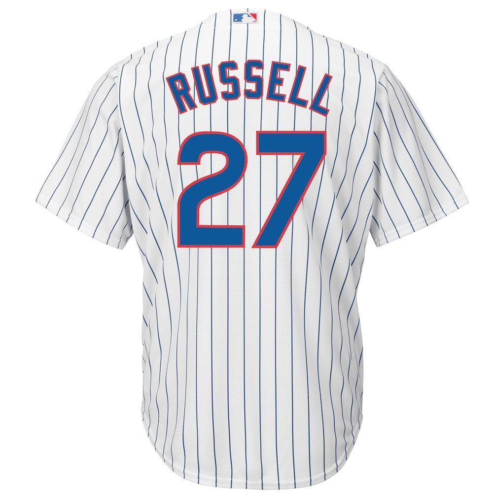 マジェスティック Majestic メンズ トップス【Chicago Cubs Adult Addison Russell Cool Base Jersey】White