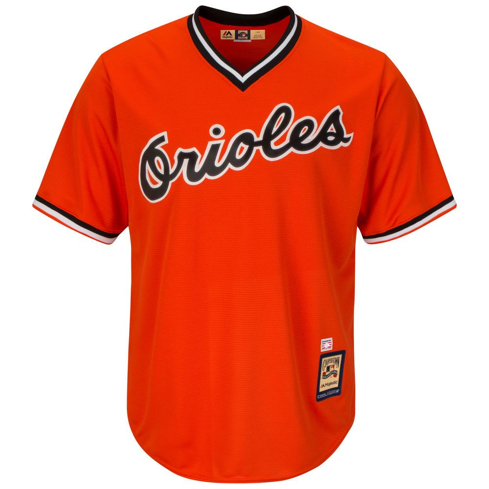 マジェスティック Majestic メンズ トップス【Baltimore Orioles Big Cooperstown Collection Cool Base Jersey (Big & Tall)】Orange