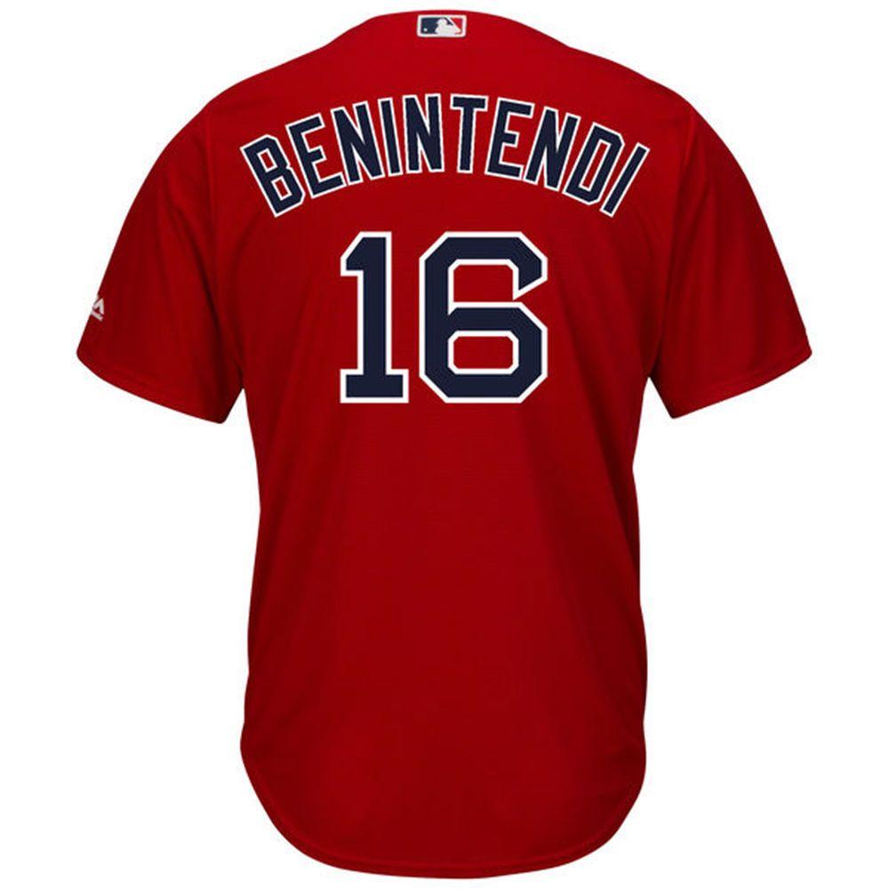 マジェスティック Majestic メンズ トップス【Boston Red Sox Adult Andrew Benintendi Cool Base Jersey】Red
