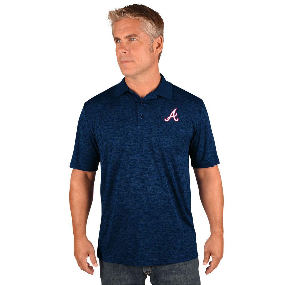 マジェスティック Majestic メンズ トップス ポロシャツ【Atlanta Braves Big Logo Polo (Big & Tall)】Navy