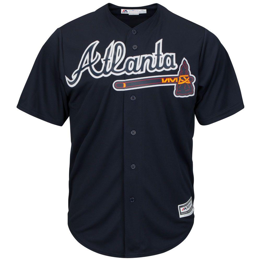 マジェスティック Majestic メンズ トップス【Atlanta Braves Adult Cool Base Replica Jersey】Navy