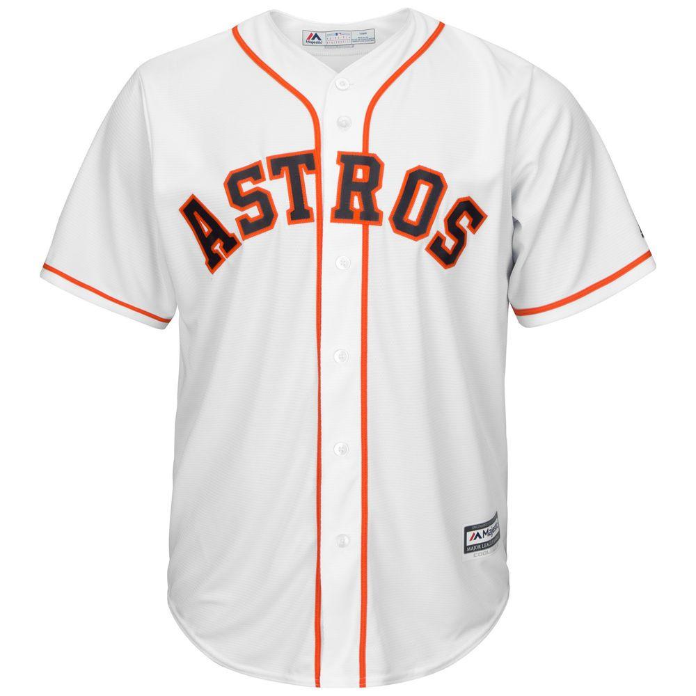 マジェスティック Majestic メンズ トップス【Houston Astros Adult Cool Base Replica Jersey】White