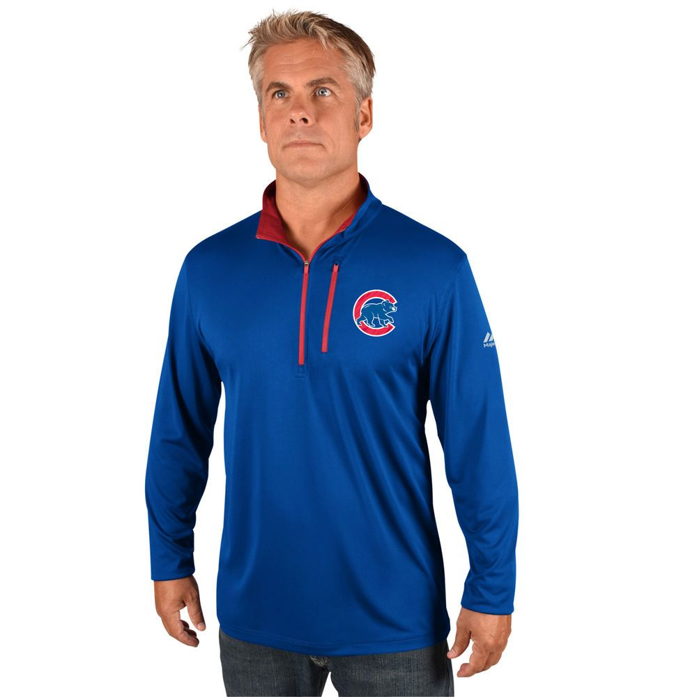 マジェスティック Majestic メンズ トップス【Chicago Cubs Big Quarter Zip Jersey Pullover (Big & Tall)】Royal
