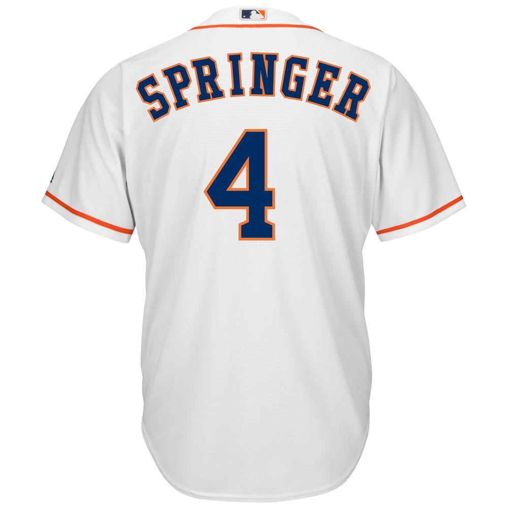 マジェスティック Majestic メンズ トップス【Houston Astros George Springer Adult Cool Base Replica Jersey】White