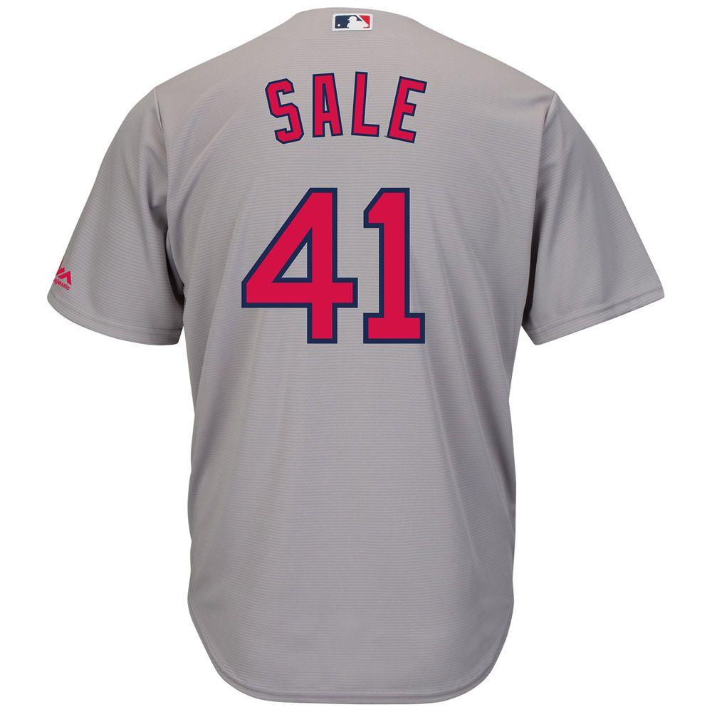 マジェスティック Majestic メンズ トップス【Boston Red Sox Adult Chris Sale Cool Base Jersey】Grey