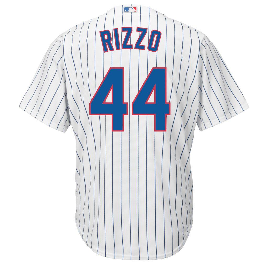 マジェスティック Majestic メンズ トップス【Chicago Cubs Anthony Rizzo Adult Cool Base Replica Jersey】White