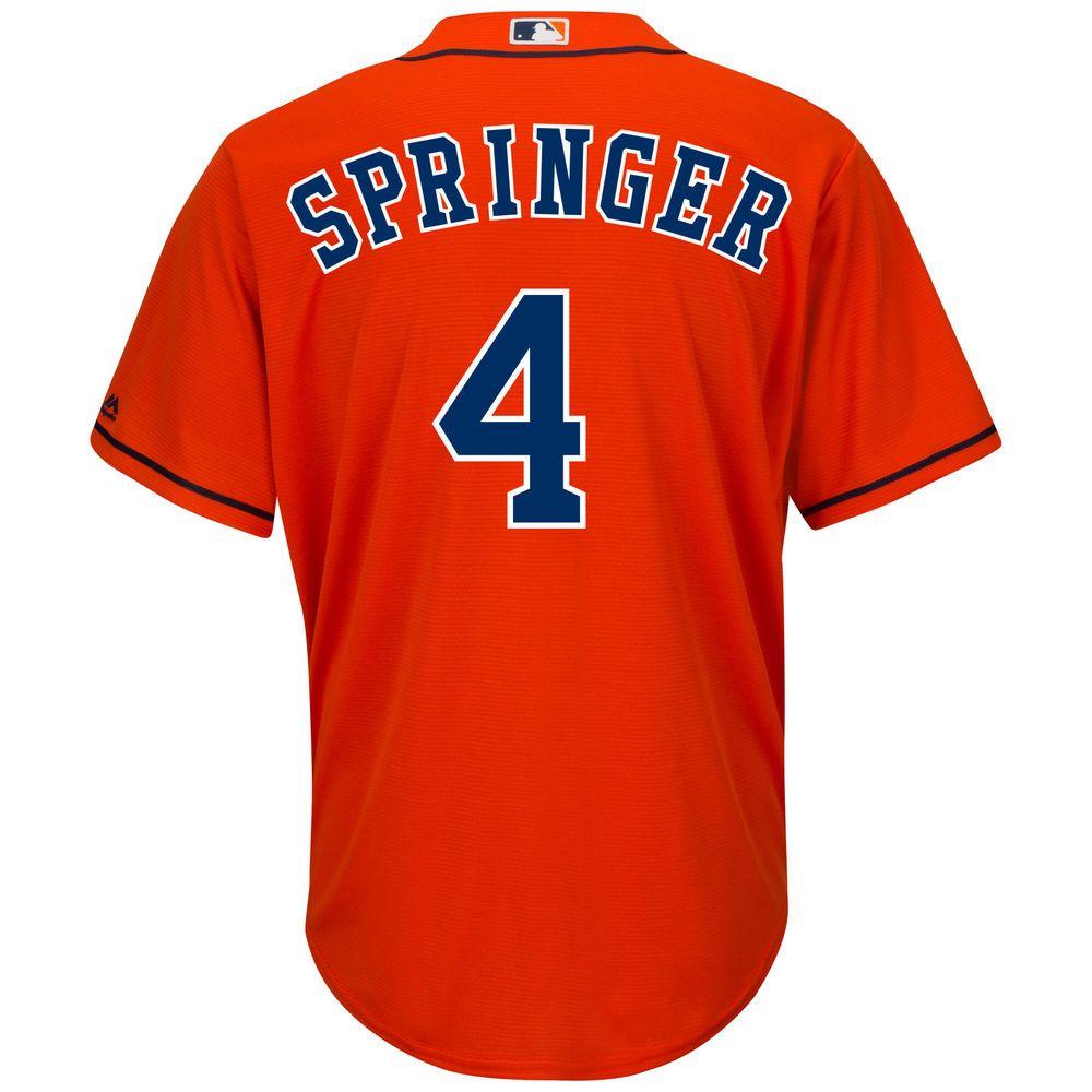 マジェスティック Majestic メンズ トップス【Houston Astros George Springer Adult Cool Base Replica Jersey】Orange