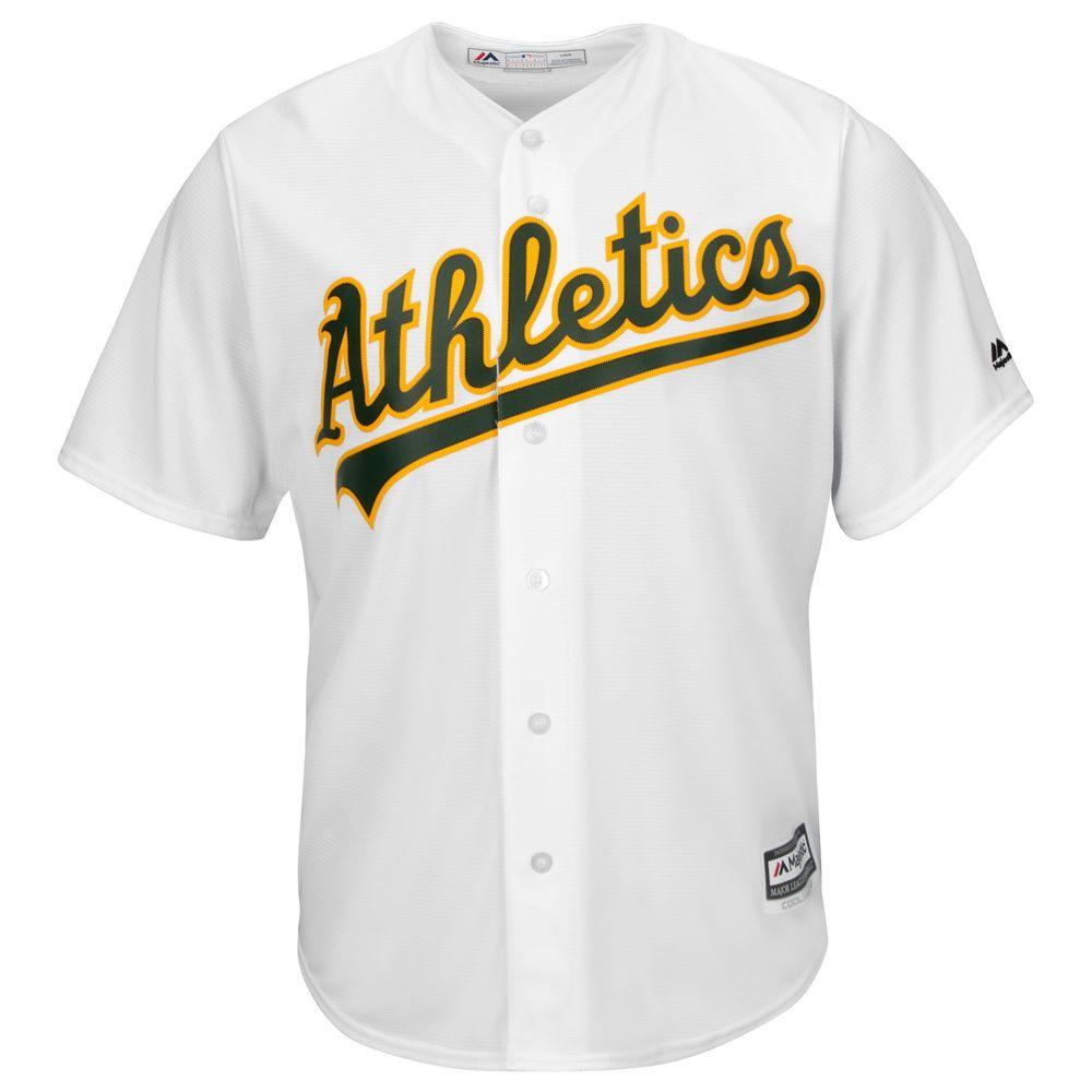 マジェスティック Majestic メンズ トップス【Oakland Athletics Big Cool Base Jersey (Big & Tall)】White