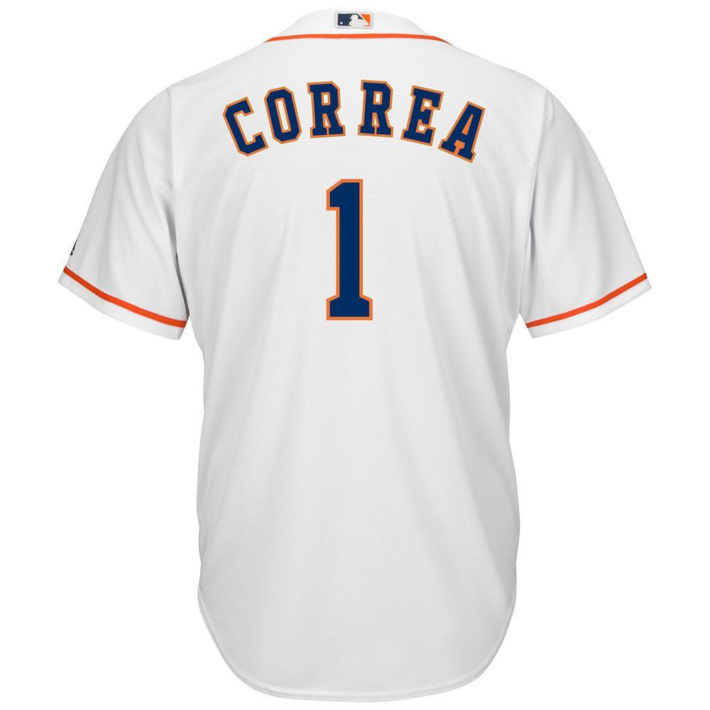 マジェスティック Majestic メンズ トップス【Houston Astros Adult Carlos Correa Home Jersey】