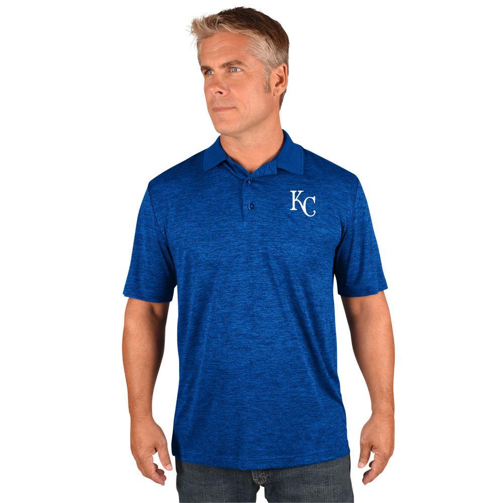 マジェスティック Majestic メンズ トップス ポロシャツ【Kansas City Royals Big Logo Polo (Big & Tall)】Royal