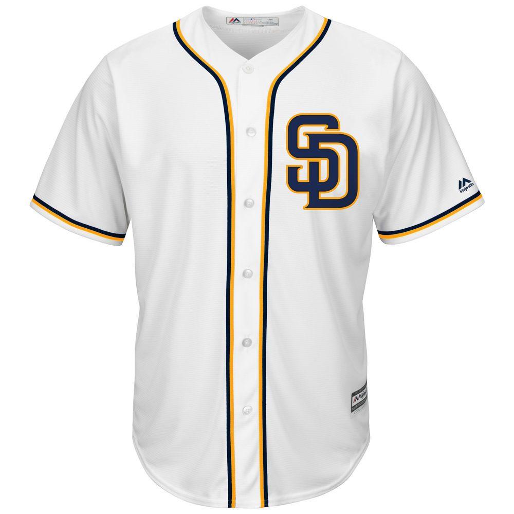 マジェスティック Majestic メンズ トップス【San Diego Padres Big Cool Base Jersey (Big & Tall)】White