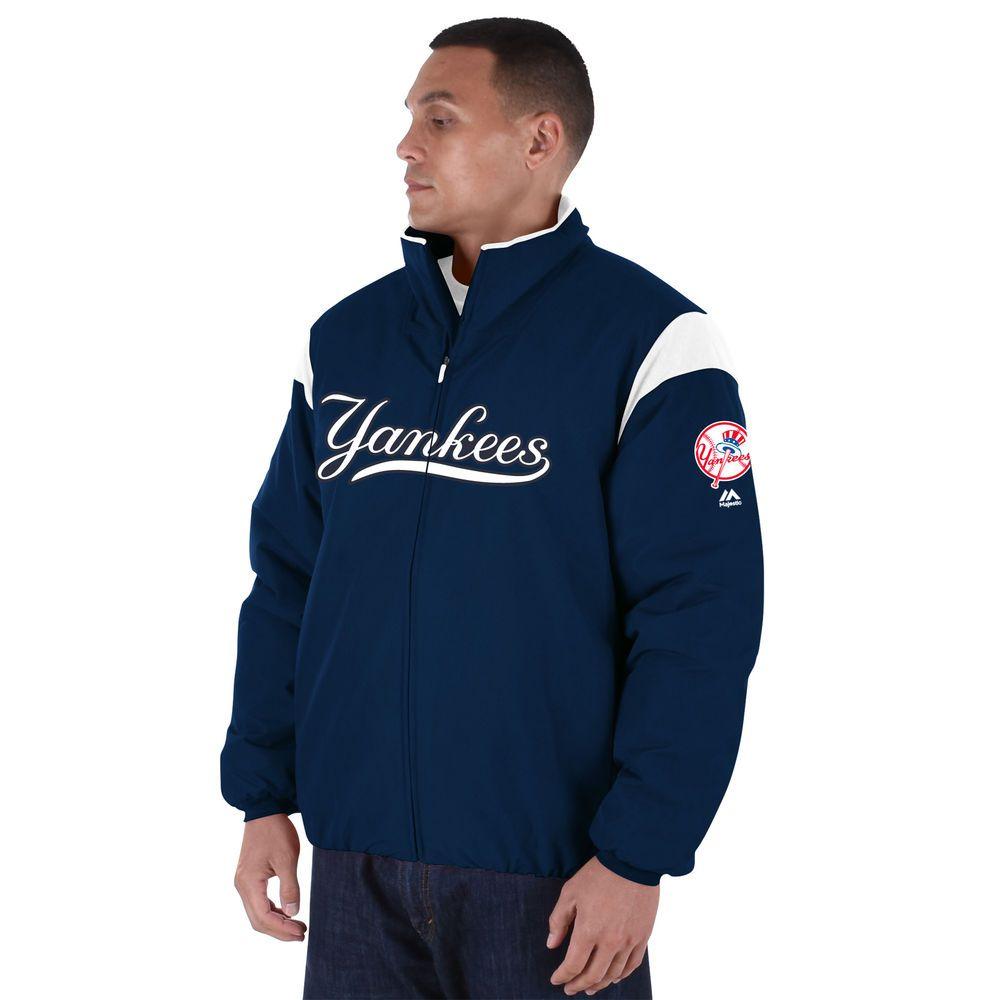 マジェスティック Majestic メンズ アウター ジャケット【New York Yankees Big Authentic Collection On-Field Therma Base Thermal Full-Zip Jacket (Big & Tall)】Navy