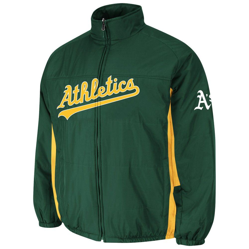 マジェスティック Majestic メンズ アウター ジャケット【Oakland Athletics Adult Triple Climate 3 In1 Jacket】Dark Green