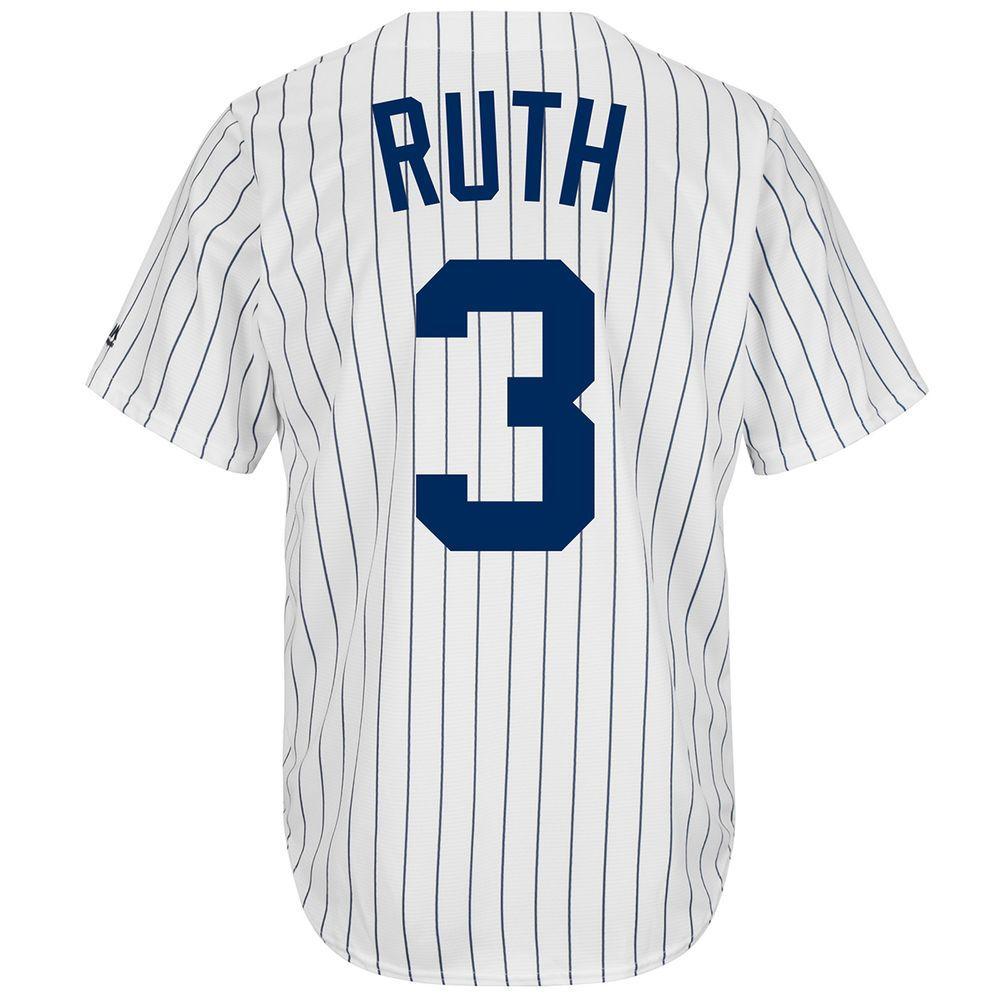 マジェスティック Majestic メンズ トップス【New York Yankees Adult Babe Ruth Cooperstown Collection Jersey】