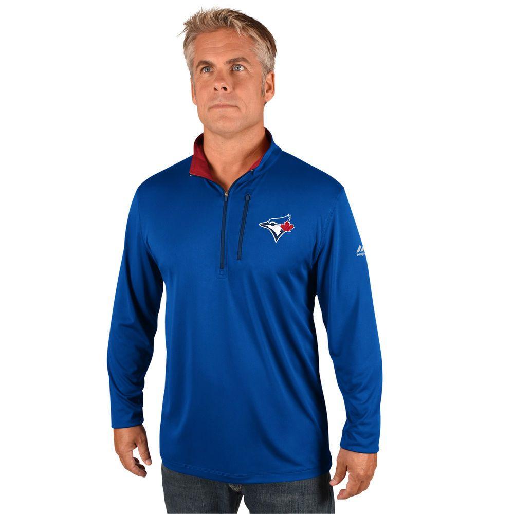 マジェスティック Majestic メンズ トップス【Toronto Blue Jays Big Quarter Zip Jersey Pullover (Big & Tall)】Royal