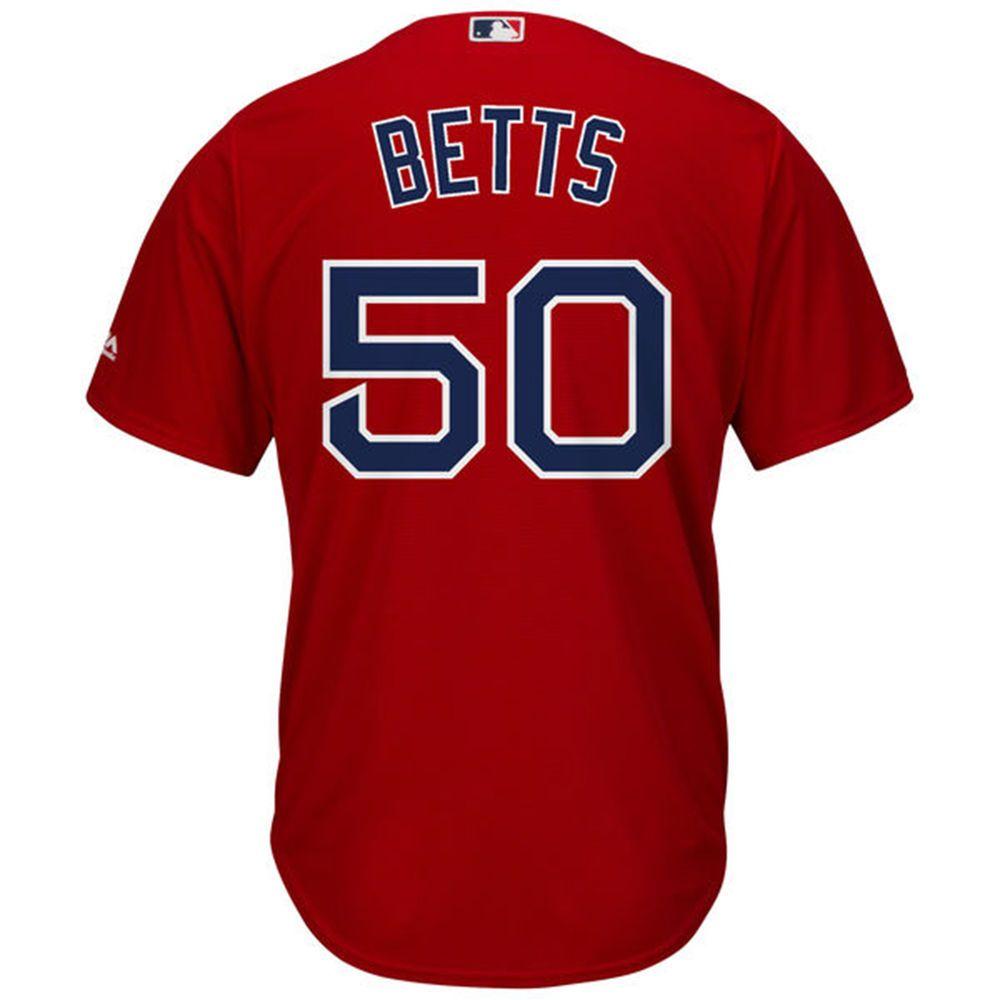 マジェスティック Majestic メンズ トップス【Boston Red Sox Adult Mookie Betts Cool Base Jersey】Scarlet