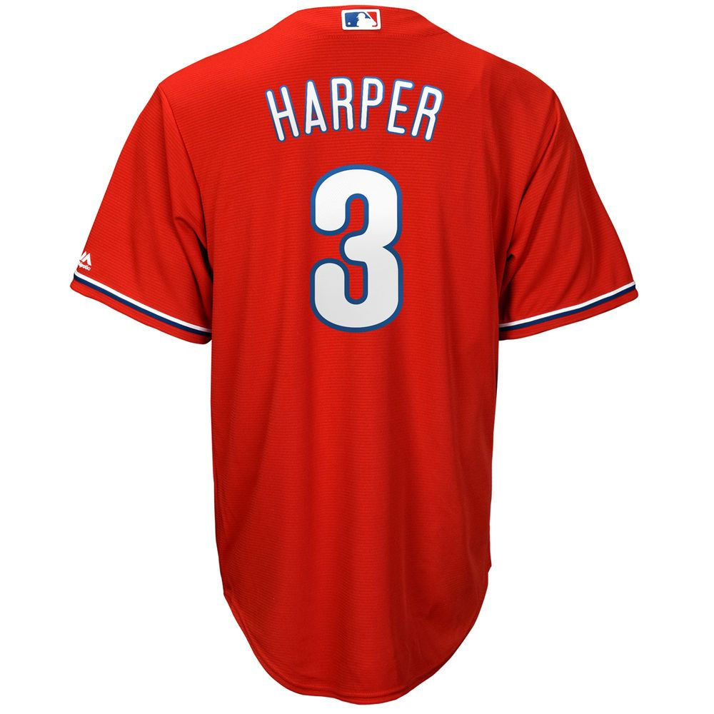マジェスティック Majestic メンズ トップス【Philadelphia Phillies Adult Bryce Harper Replica Jersey】Red