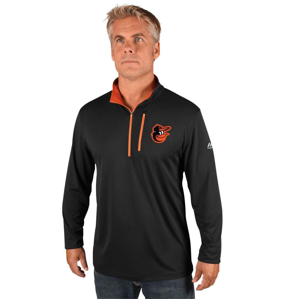 マジェスティック Majestic メンズ トップス【Baltimore Orioles Big Quarter Zip Jersey Pullover (Big & Tall)】Black
