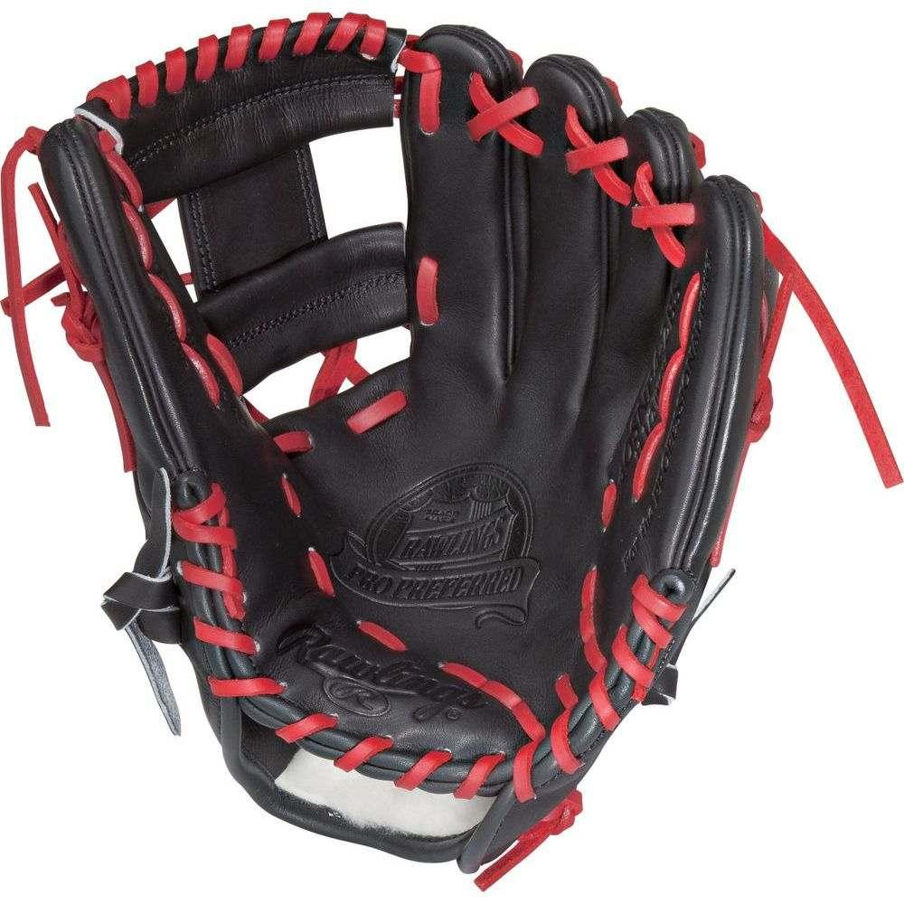 ローリングス ユニセックス 野球 グローブ Black/Red 【サイズ交換無料】 ローリングス Rawlings ユニセックス 野球 グローブ【Pro Preferred Series 11.5 Inch Right Hand Throw Baseball Glove】Black/Red