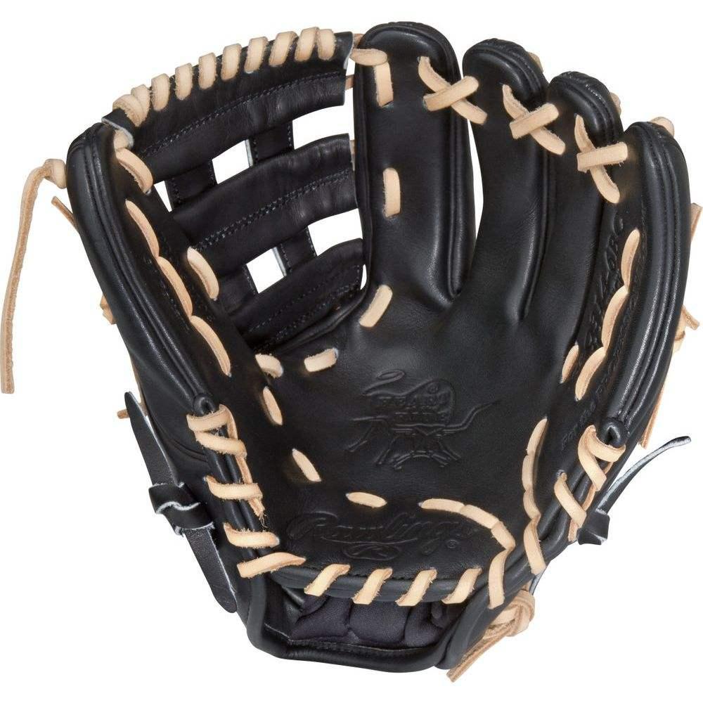 ローリングス ユニセックス 野球 グローブ Black 【サイズ交換無料】 ローリングス Rawlings ユニセックス 野球 グローブ【Heart of the Hide Series 11.5 Inch Right Hand Throw Baseball Glove】Black