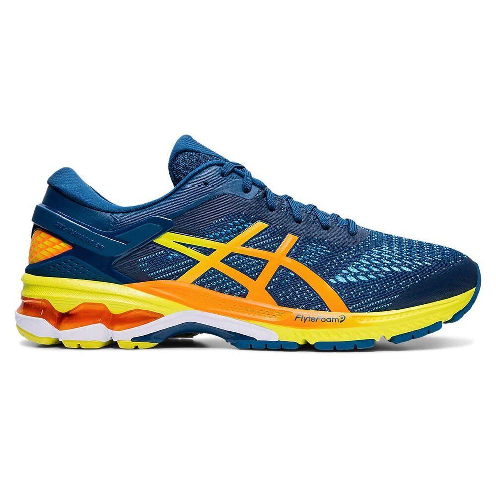 アシックス ASICS メンズ ランニング・ウォーキング シューズ・靴【GEL-Kayano 26 Running Shoe】青/黄