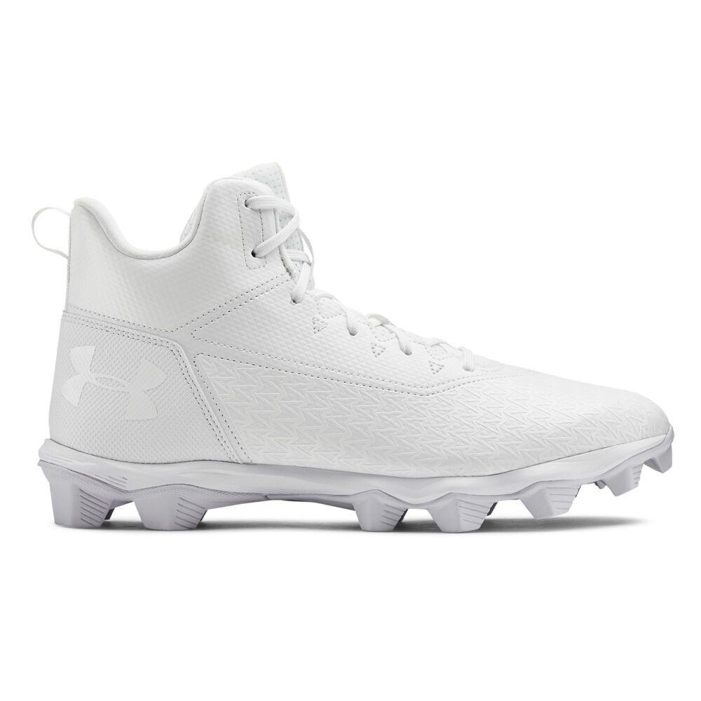 アンダーアーマー Under Armour メンズ アメリカンフットボール スパイク シューズ・靴【Hammer Mid RM Football Cleat】White