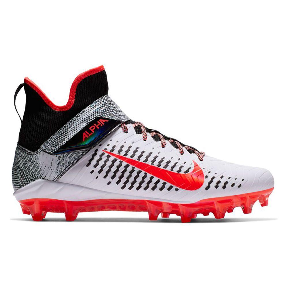 ナイキ Nike メンズ アメリカンフットボール スパイク シューズ・靴【Alpha Menace Pro 2 Mid Football Cleat】White/Red/Black