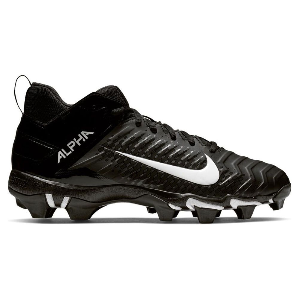アメリカンフットボール Cleat】Black/White Wide Nike Football シューズ・靴【Alpha スパイク Width ナイキ Menace メンズ 2 Shark