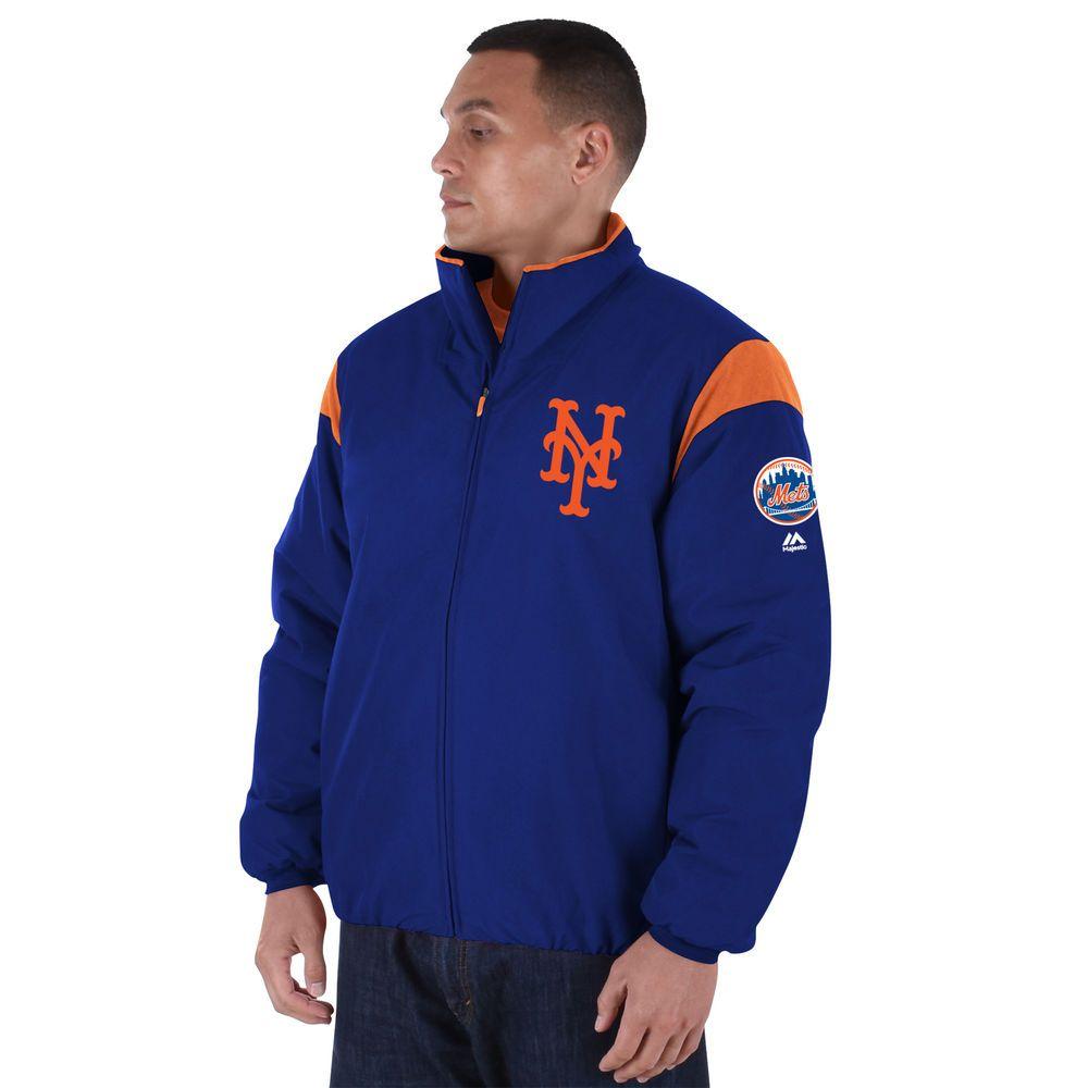 マジェスティック Majestic メンズ ジャケット アウター【New York Mets Big Authentic Collection On-Field Therma Base Thermal Full-Zip Jacket (Big & Tall)】Royal