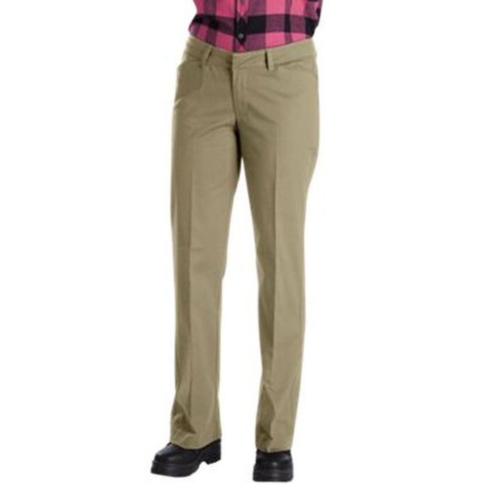 ディッキーズ Dickies レディース ボトムス・パンツ ストレートパンツ【Relaxed Fit Straight Leg Stretch Twill Pant】Sand
