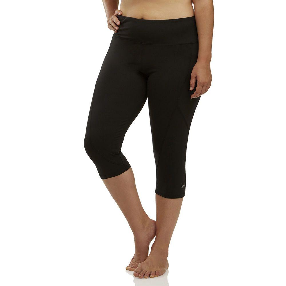 マリカ Marika Curves レディース クロップド 大きいサイズ ボトムス・パンツ【Slimming High Rise Plus Size Capri】Black