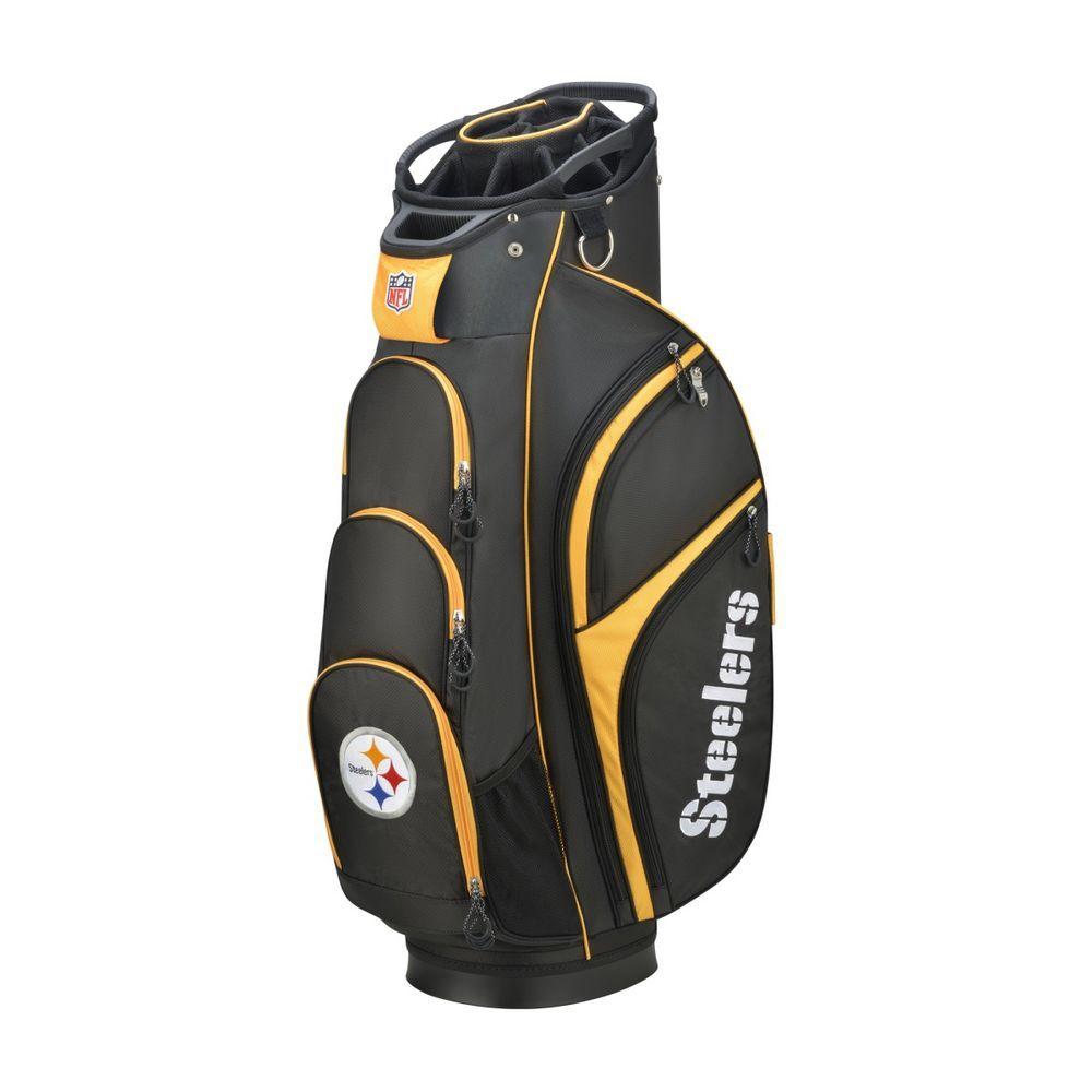 ウィルソン Wilson ユニセックス ゴルフ カートバッグ【Pittsburgh Steelers Cart Golf Bag】Black