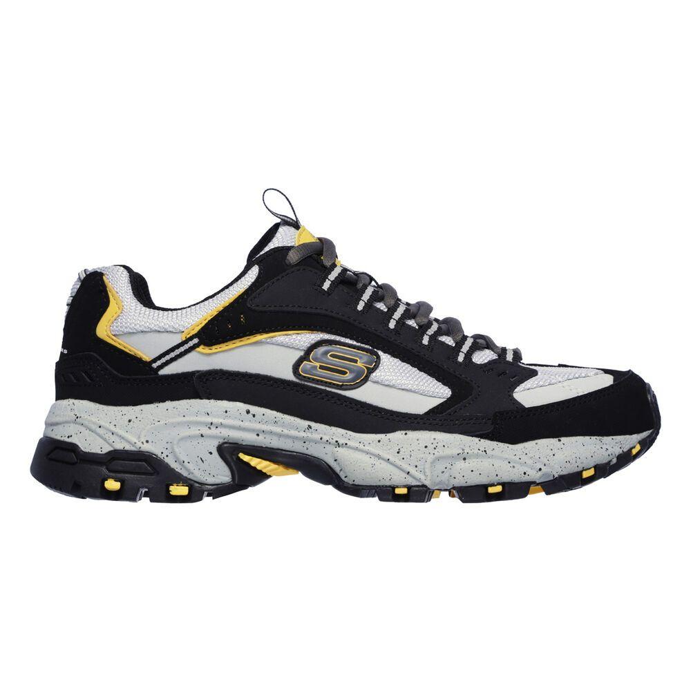 スケッチャーズ メンズ フィットネス・トレーニング シューズ・靴 Black/Grey 【サイズ交換無料】 スケッチャーズ Skechers メンズ フィットネス・トレーニング シューズ・靴【Stamina Cutback Wide Width Training Shoe】Black/Grey