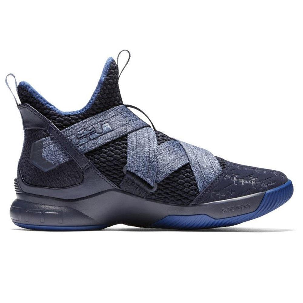 アンマーショップ ナイキ バスケットボール ナイキ Nike メンズ バスケットボール シューズ・靴【LeBron Basketball Soldier XII Basketball Shoe】Black/Blue, フラダンス トーチジンジャー:db7e962e --- projetoreservado.com
