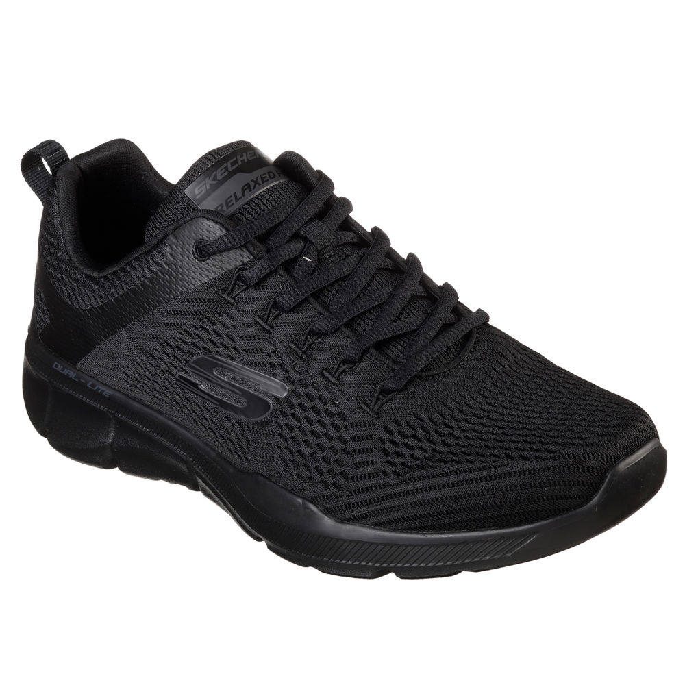 スケッチャーズ Skechers メンズ ランニング・ウォーキング シューズ・靴【Relaxed Fit Equalizer 3.0 Wide Width Walking Shoe】Black/Black